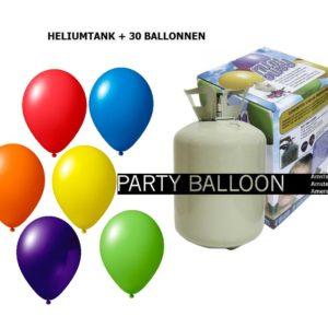 heliumtank+voor+circa+30+ballonnen ASS pastel