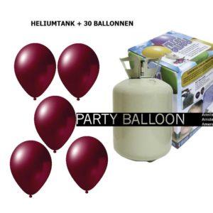 heliumtank+voor+circa+30+ballonnen Burgundy metallic
