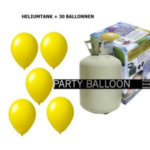 heliumtank+voor+circa+30+ballonnen GEEL