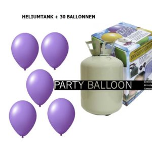 heliumtank+voor+circa+30+ballonnen LILA