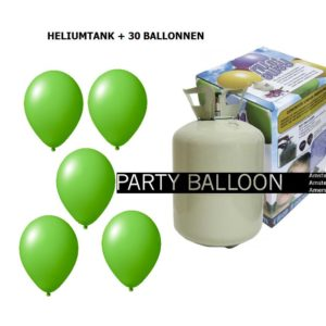 heliumtank+voor+circa+30+ballonnen LIME GROEN