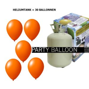 heliumtank+voor+circa+30+ballonnen ORANJE