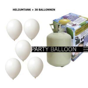 heliumtank+voor+circa+30+ballonnen WIT