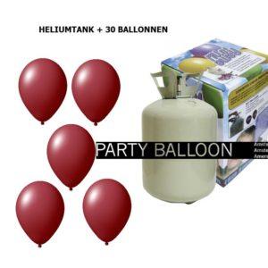 heliumtank+voor+circa+30+ballonnen bordeaux