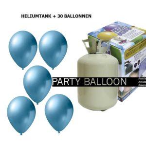 heliumtank+voor+circa+30+ballonnen l.blauw metallic
