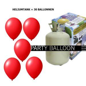 heliumtank+voor+circa+30+ballonnen rood