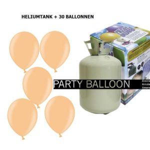 heliumtank+voor+circa+30+ballonnen zalm 1pastel