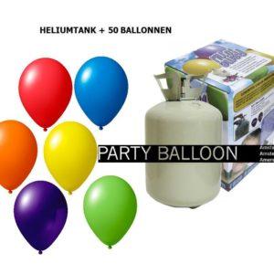 heliumtank+voor+circa+50+ballonnen ASS pastel