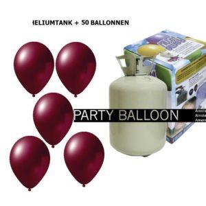 heliumtank+voor+circa+50+ballonnen Burgundy metallic