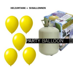 heliumtank+voor+circa+50+ballonnen GEEL
