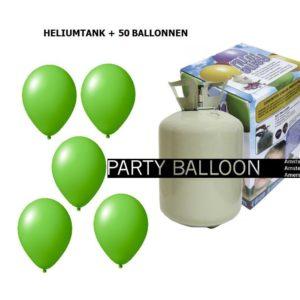 heliumtank+voor+circa+50+ballonnen LIME GROEN