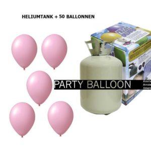 heliumtank+voor+circa+50+ballonnen ROZE
