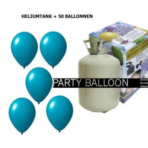 heliumtank+voor+circa+50+ballonnen TURQUOISE