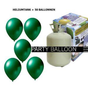heliumtank+voor+circa+50+ballonnen oxford groen metallic
