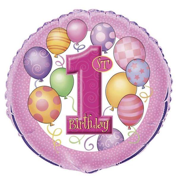 folieballon-1st-pink-balloons