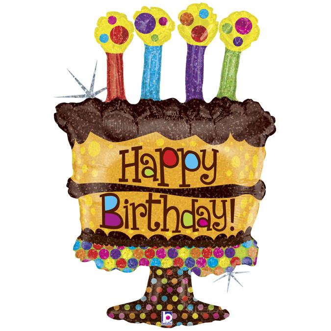 Surprising Folie Ballon Chocolate Cake Happy Birthday Party Balloon Personalised Birthday Cards Bromeletsinfo