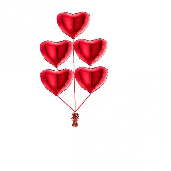 Ballonset a5 ballonnen folie hart 45cm