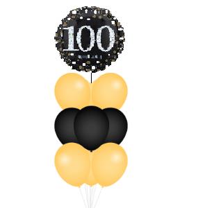BALLONSET 100 JAAR GOUD