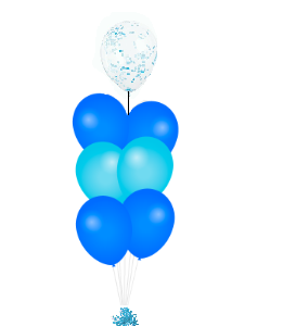 Confetti ballon op top blauw