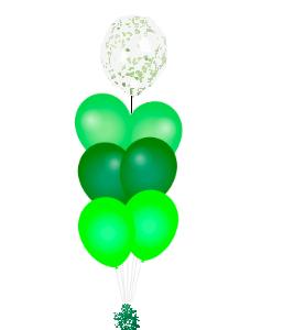 Confetti ballon op top groen