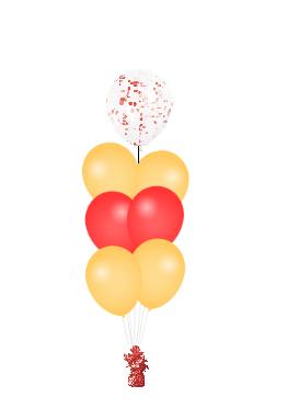 Confetti ballon op top rood