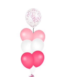 Confetti ballon op top roze