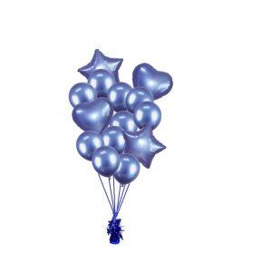 luxe set met folie ballonnen blauw
