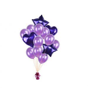 luxe set met folie ballonnen d paars