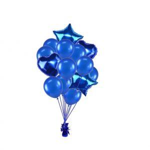 luxe set met folie ballonnen d.blauw