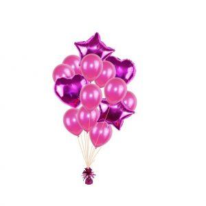 luxe set met folie ballonnen d.roze