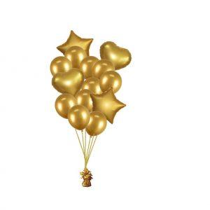 luxe set met folie ballonnen goud