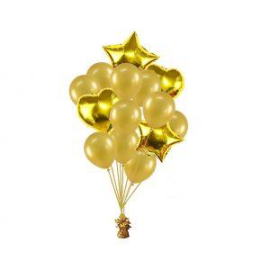 luxe set met folie ballonnen goud metallic