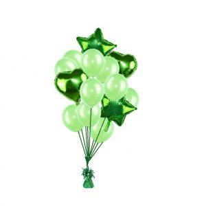 luxe set met folie ballonnen groen
