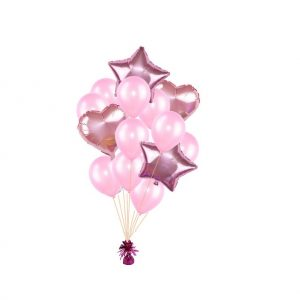 luxe set met folie ballonnen l.roze