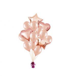 luxe set met folie ballonnen rose goud